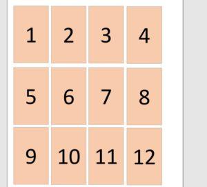 バドミントンの番号札